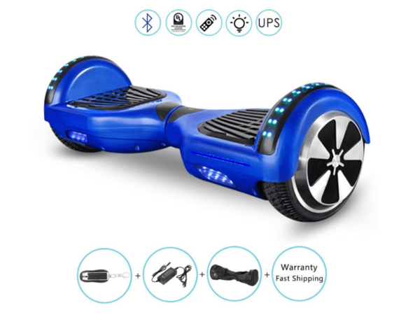 blue hoverboard features