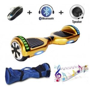 Gold colour self balancing scooter