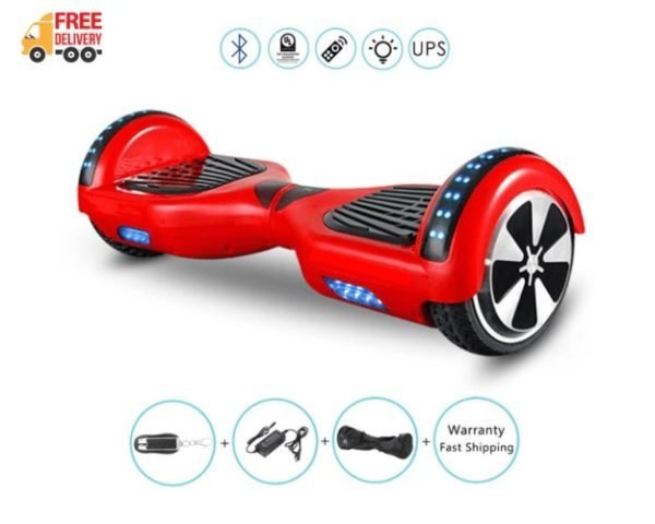 Red hoverboard features