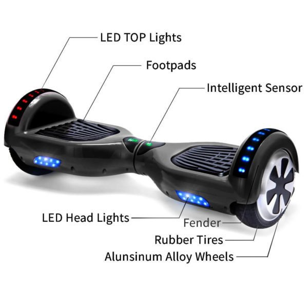 black hoverboard part explaination