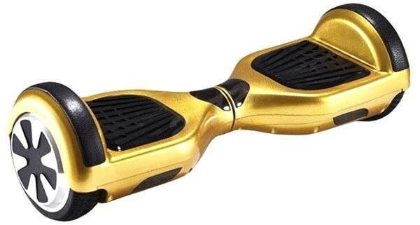 gold hoverboard with led