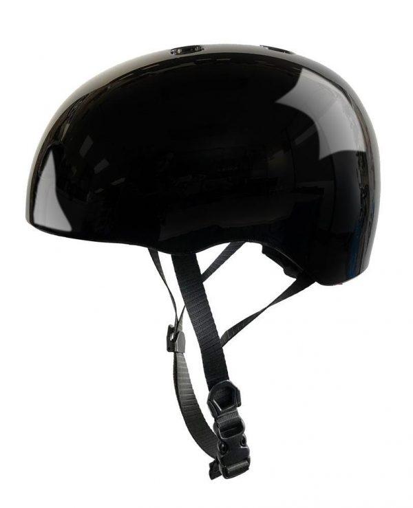 micro-scooter-BLACK-HELMET-GLOSSY-FRONTjpg