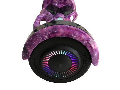 "8"" Purple Galaxy Hoverboard wheel"